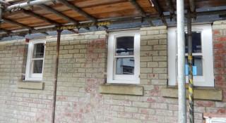 New sash windows